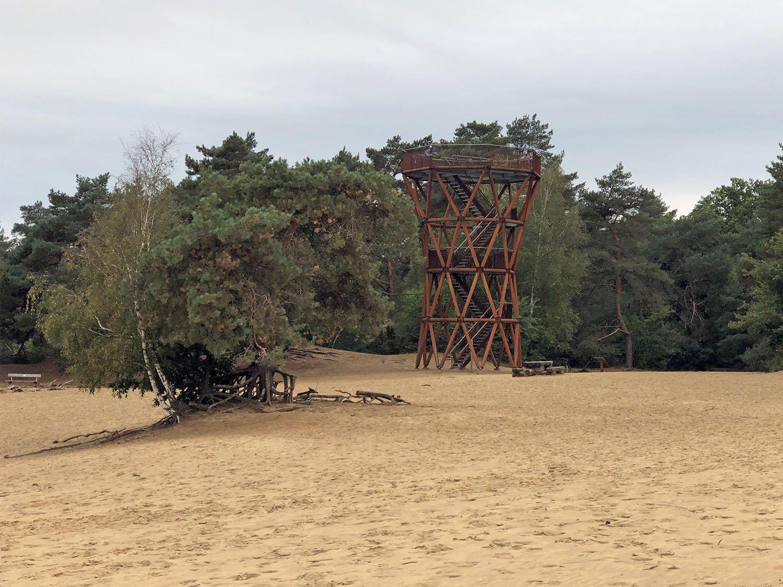 De Zandloper Kootwijker uitkijktorens Veluwe Uitkijktoren Kootwijkerzand