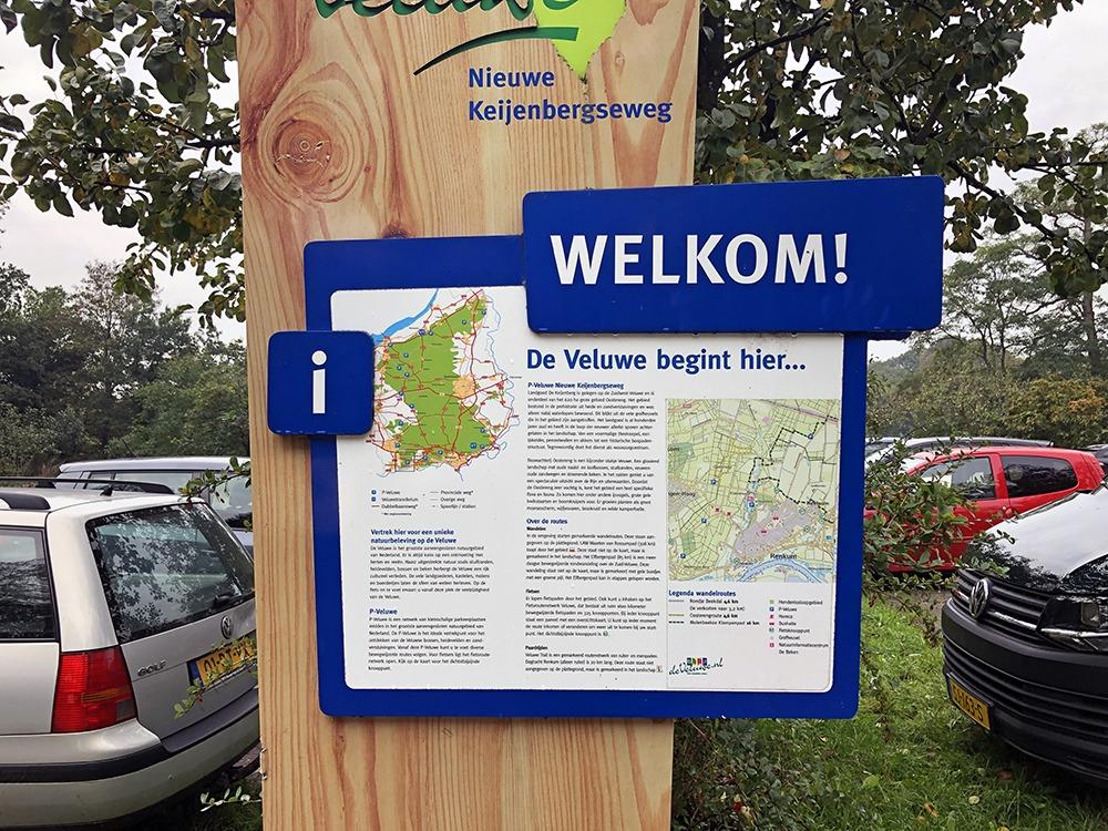 Parkeren in Renkum bij het informatiecentrum Renkums Beekdal
